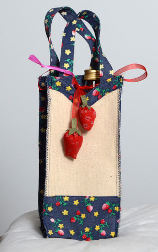 Handmade bag for bottle gift